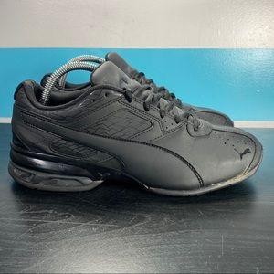 Puma triple black running shoes